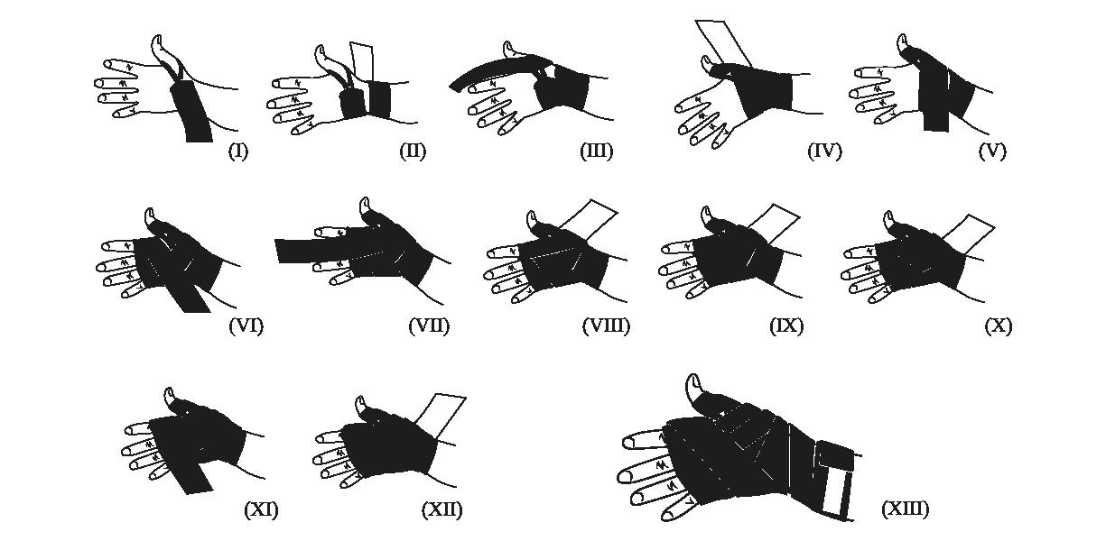 Boxe Boxe bendaggio mano avvolge di mano del cotone Bandage fascette da polso della mano avvolge Bandage Armguard Boxing Muay Thai Taekwondo Sanda combattimento di protezione Black Belt